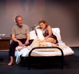 Chris Coucill and June Ballinger in BACK FIRE at Passage Theatre