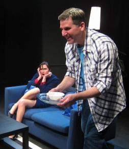 Jessica O'Hara-Baker and David Micelli in BLOOD: A COMEDY